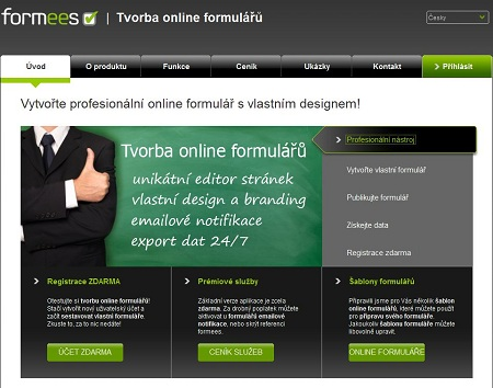 formees - Tvorba online formulářů