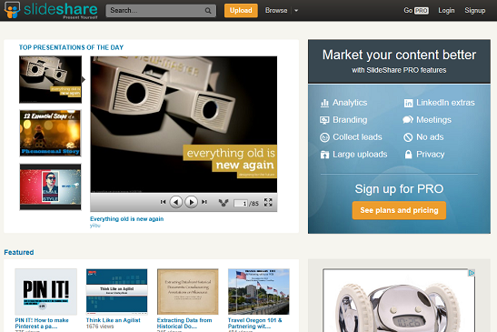 slideshare prezentace online