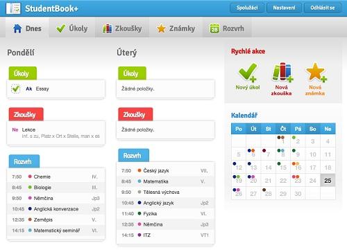 StudentBook - vše, co každý student potřebuje
