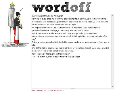 vyčistit HTML