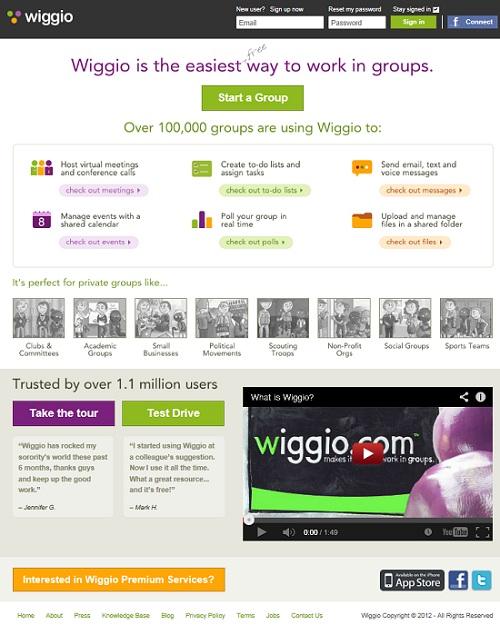 wiggio - práce ve skupinách