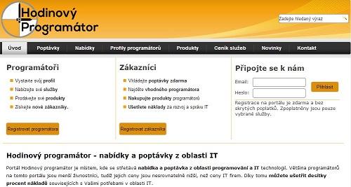 Hodinovyprogramator.cz - nabídky a poptávky z oblasti IT